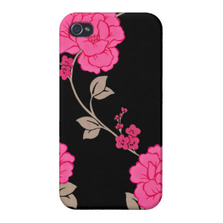 Vintage Pink Flowers Covers For iPhone 4