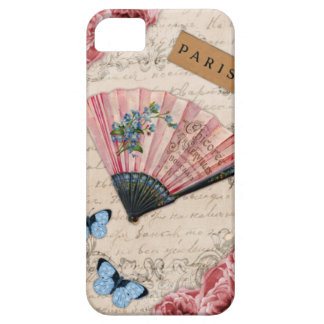 Vintage Pink French Fan iPhone 5 Cases
