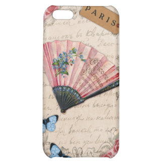 Vintage Pink French Fan Cover For iPhone 5C