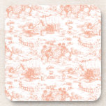 Vintage Pink French Toile Coasters