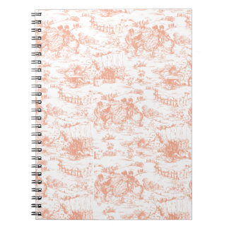 Vintage Pink French Toile Spiral Notebook