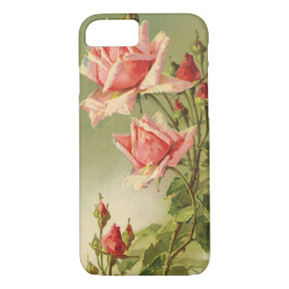 Vintage Pink Garden Roses for Valentine's Day iPhone 7 Case