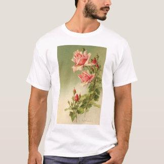 Vintage Pink Garden Roses for Valentine's Day T-Shirt