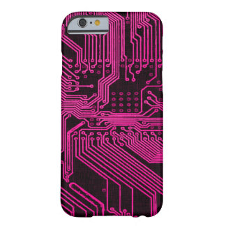Vintage Pink Ghost Grunge Circuit Board Design Barely There iPhone 6 Case