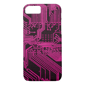 Vintage Pink Ghost Grunge Circuit Board Design iPhone 8/7 Case