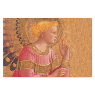 Vintage Pink Golden Christian Angel Tissue Paper