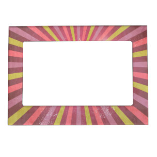 Vintage Pink, Green & Purple Christmas Design Magnetic Photo Frame
