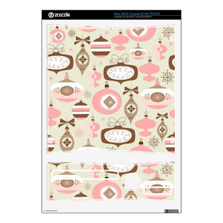 Vintage Pink & Grey Christmas Ornaments Xbox 360 S Decals