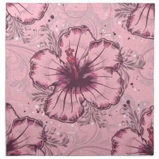 Vintage Pink Hibiscus Napkin