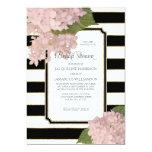 Vintage Pink Hydrangea Classy Modern Bridal Shower Card
