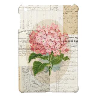 Vintage Pink Hydrangea French Ephemera iPad Mini C Case For The iPad Mini
