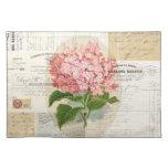 Vintage Pink Hydrangea French Ephemera Placemat