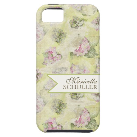 Vintage Pink Hydrangea French Wallpaper Floral Art Case Mate Iphone Case