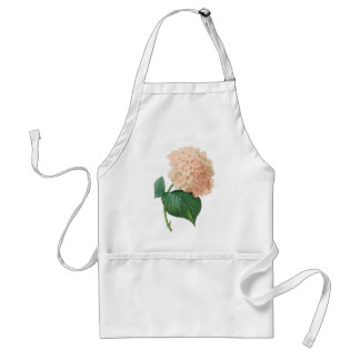 Vintage Pink Hydrangea Hortensia Flower by Redoute Adult Apron