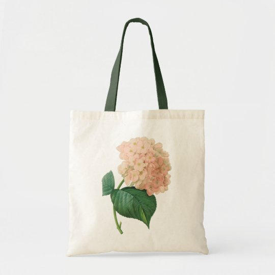 Vintage Pink Hydrangea Hortensia Flower by Redoute Tote Bag