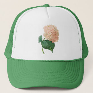 Vintage Pink Hydrangea Hortensia Flower by Redoute Trucker Hat