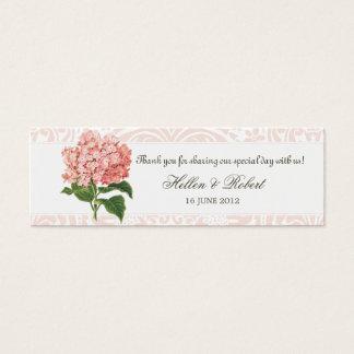 Vintage Pink Hydrangea Wedding Favor Tag