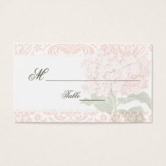 Vintage Pink Hydrangea Wedding Place Card