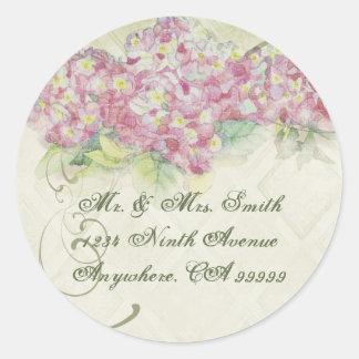 Vintage Pink  Hydrangea - Wedding Seal Stickers