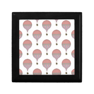 Vintage Pink Light Blue Hot Air Balloons Gift Box