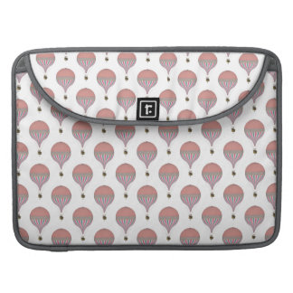 Vintage Pink, Light Blue Hot Air Balloons Sleeves For MacBooks