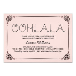 Vintage Pink Lingerie Shower Invitations Ooh La La