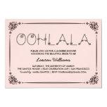"""Vintage Pink Lingerie Shower Invitations Ooh La La 5"""" X 7"""" Invitation Card"""
