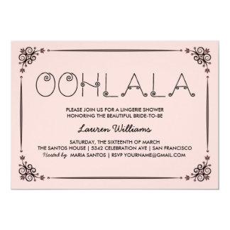 Vintage Pink Lingerie Shower Invitations Ooh La La