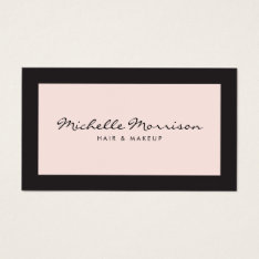 Vintage Pink Makeup And Beauty Business Card at Zazzle