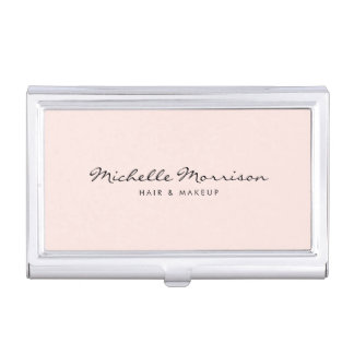 Vintage Pink Makeup and Beauty Card Case