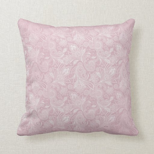 Vintage Pink Paisley Pillows