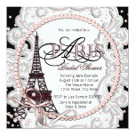 Vintage Pink Paris Bridal Shower Custom Invites