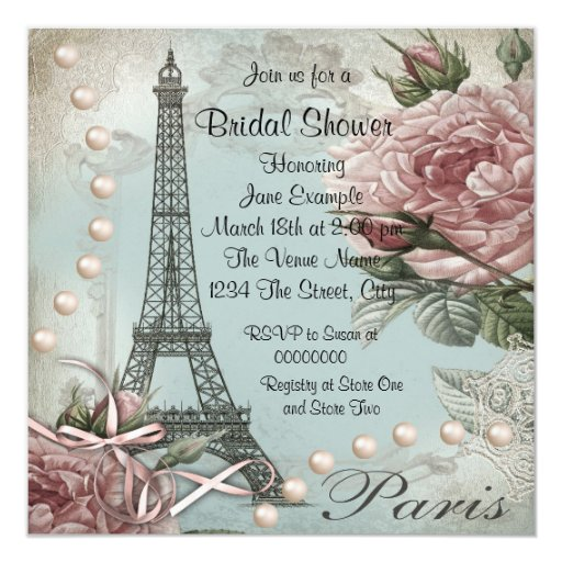 Bridal Shower Invitations Paris Theme as awesome invitation template
