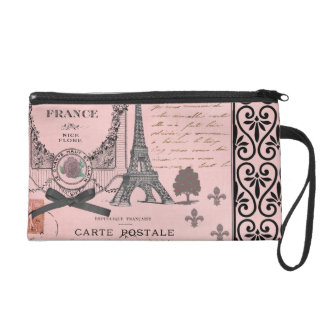 Vintage Pink Paris Collage bag
