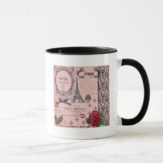 Vintage Pink Paris Collage Mug