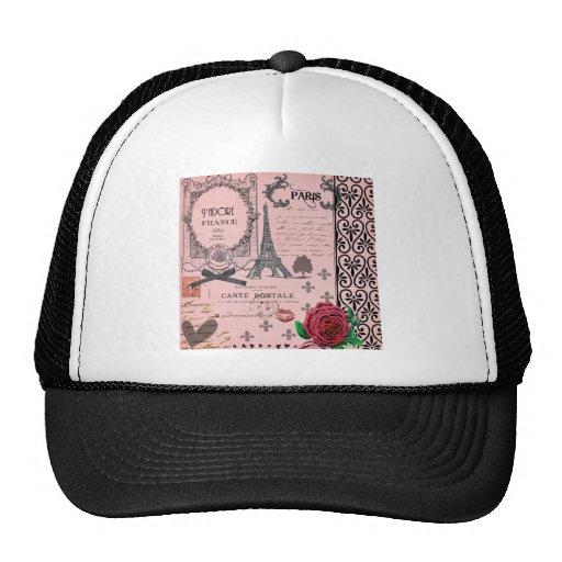 Vintage Pink Paris Collage Trucker Hat