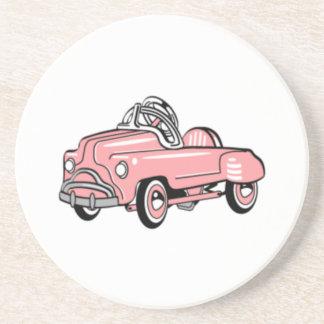 VINTAGE PINK PEDAL CAR Coaster