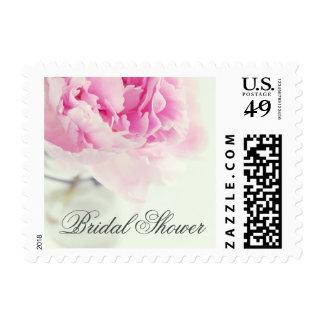 Vintage Pink Peony Mason Jar Bridal Shower Postage Stamp