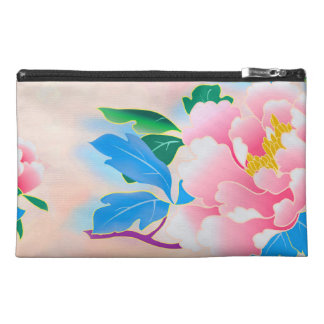 Vintage pink peony Style Travel Accessory Bag