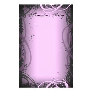 Vintage Pink Poetry Stationery