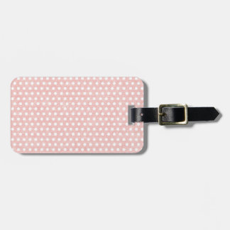 Vintage Pink Polka Dot Pattern Bag Tag