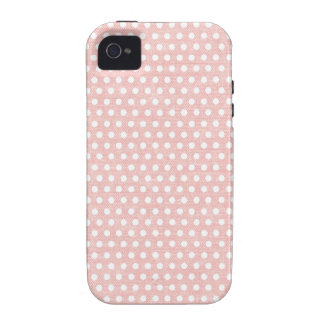 Vintage Pink Polka Dot Pattern Case-Mate iPhone 4 Covers