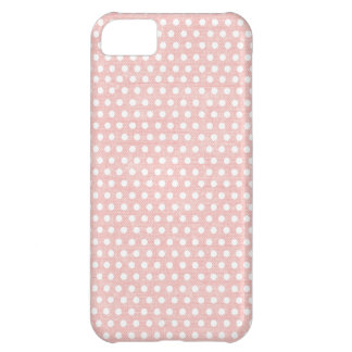 Vintage Pink Polka Dot Pattern Cover For iPhone 5C