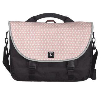Vintage Pink Polka Dot Pattern Laptop Bag