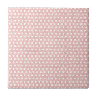 Vintage Pink Polka Dot Pattern Ceramic Tiles