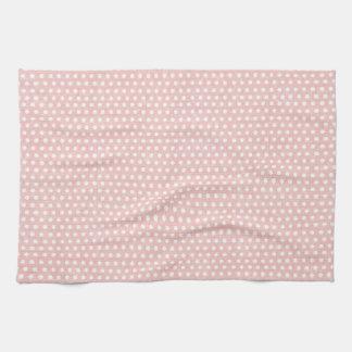 Vintage Pink Polka Dot Pattern Towel