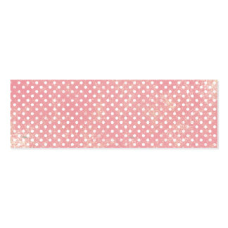 Vintage Pink Polka Dots Double-Sided Mini Business Cards (Pack Of 20)