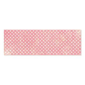Vintage Pink Polka Dots Business Card Template