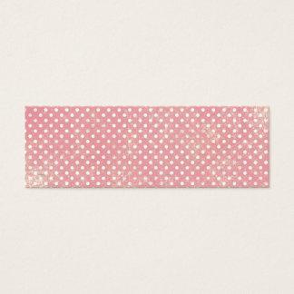 Vintage Pink Polka Dots Mini Business Card