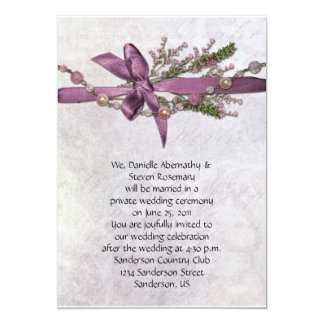 Vintage Pink Post Wedding Celebration Invitiation Personalized Announcement